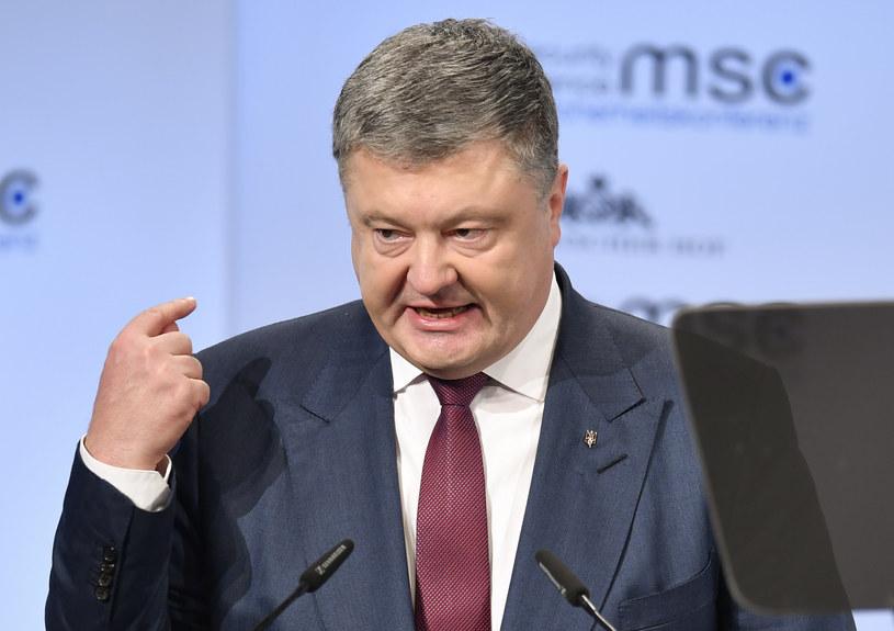 Czwórka normandzka prowadzi rozmowy o uregulowaniu konfliktu w Donbasie; Na zdj. Petro Poroszenko /THOMAS KIENZLE /AFP