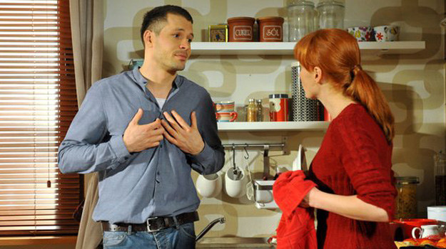 Czy Agnieszka dowie się, że Tomek nie przestał myśleć o Małgosi? A jeśli tak, czy to będzie oznaczać koniec ich związku? /MTL Maxfilm