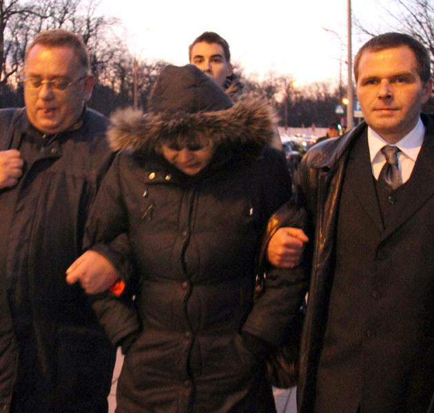 Czy Budzyńska pojawiła się w asyście dwóch mężczyzn ze względów bezpieczeństwa?  /Grażyna Myślińska /Agencja FORUM