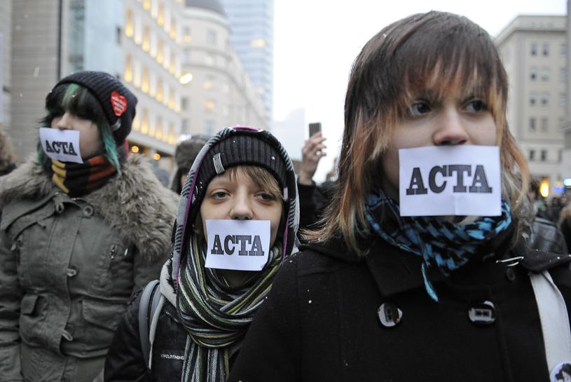 Czy czeka nas powtórka z protestów przeciwko ACTA? /AFP