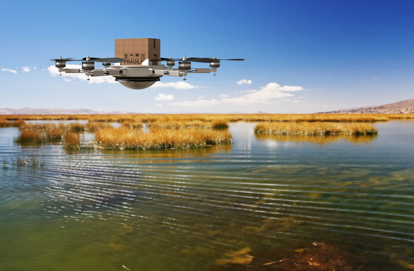 Czy drony to przyszłość transportu żywności? /123RF/PICSEL