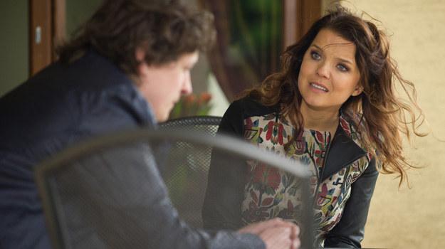 Czy Filip i Marta dojdą do porozumienia? /Radek Orzeł  /TVN