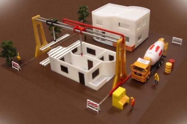 Czy gigantyczne drukarki 3D zastąpią w przyszłości ekipy budowlane? /gizmodo.pl