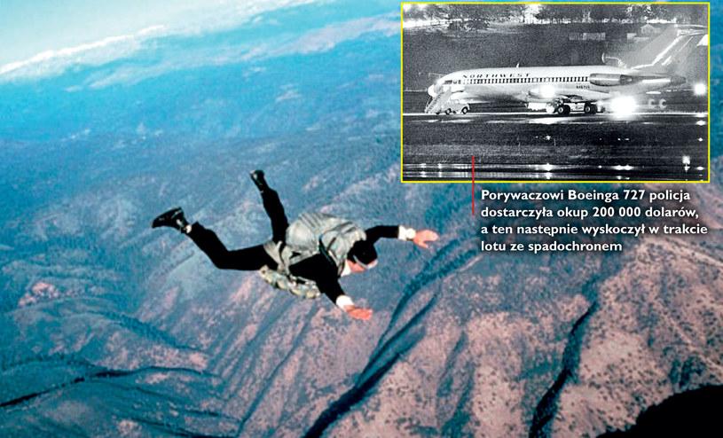 Czy istniała szansa, by D.B. Cooper przeżył skok na spadochronie w mroźną noc? /Enigma