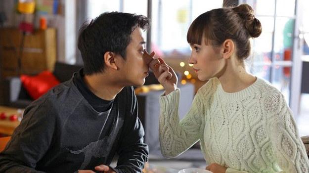 Czy Janka (Joanna Osyda) i Taro (Hiroaki Murakami) zostaną parą? /www.mjakmilosc.tvp.pl/