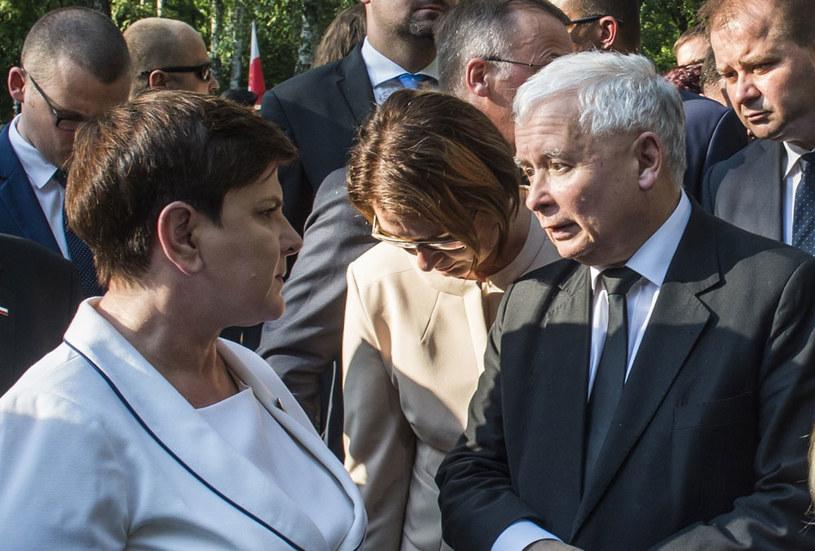 Czy Jarosław Kaczyński przejmie od Beaty Szydło fotel premiera? /Jacek Domiński /Reporter