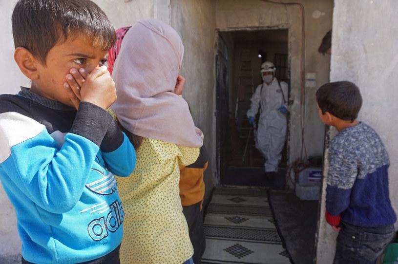 Czy koronawirus dotarł do północno-zachodniej Syrii? Tego nie wie nikt /AFP
