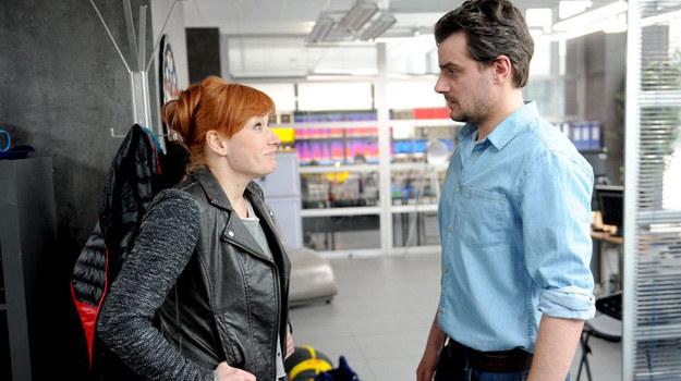 Czy Lucynę i Michała ma szansę połączyć coś więcej niż tylko wspólna praca? /Agencja W. Impact