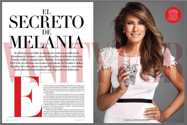 Czy Melania Trump będzie nową Jackie Kennedy? /VANITY FAIR MEXICO  /PAP/EPA