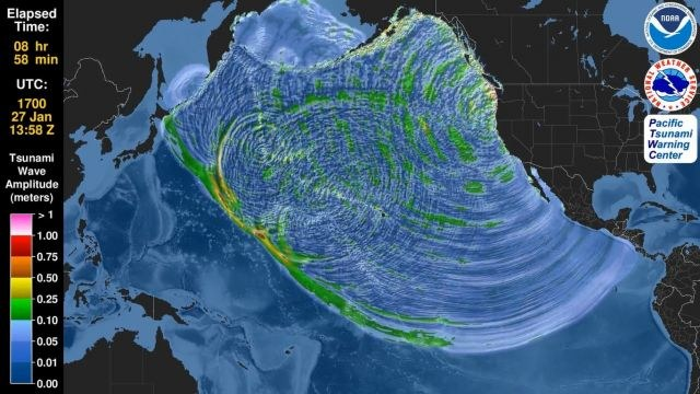 Czy można się wkrótce spodziewać dużego trzęsienia ziemi i rozległego tsunami w basenie Pacyfiku? /materiały prasowe