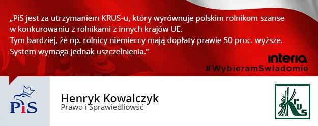 Czy pani/pana ugrupowanie popiera likwidację KRUS-u? /INTERIA.PL