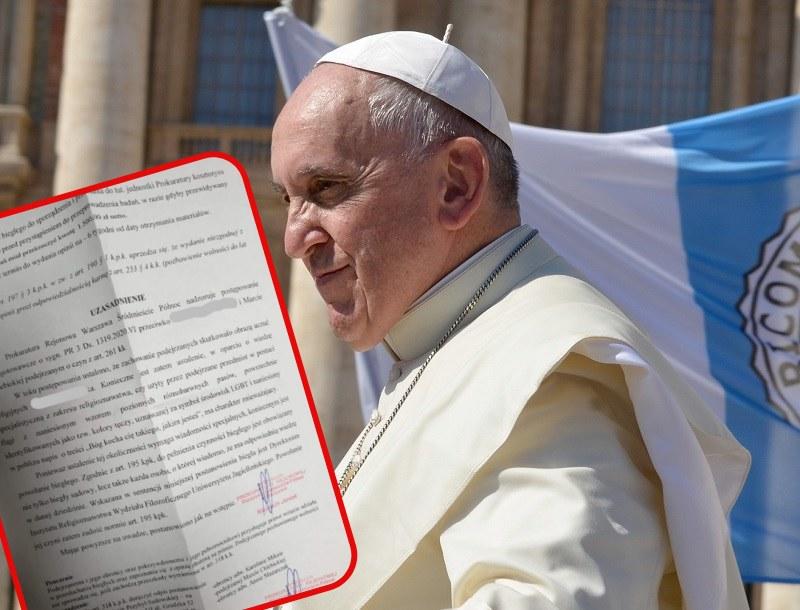 Czy papież Franciszek obraził uczucia religijne Polaków? /Facebook /Pixabay.com