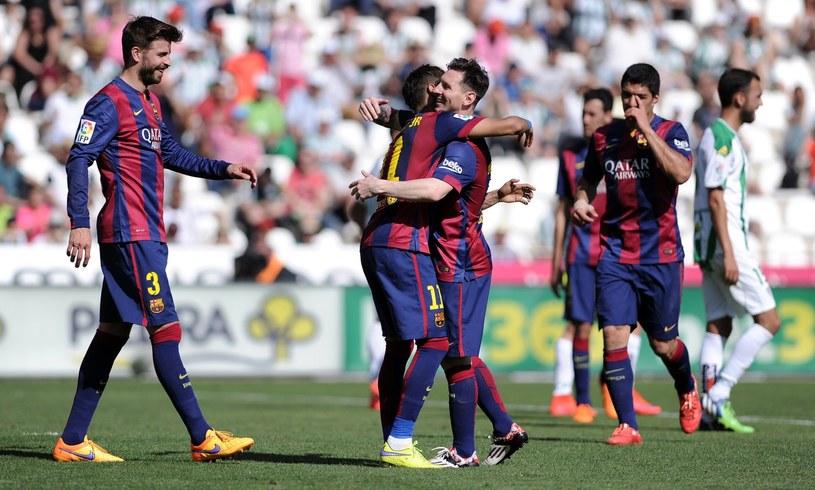 Czy piłkarze Barcelony w sobotę będą mieli powody do radości? /AFP