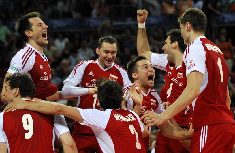 Czy polscy siatkarze będą zadowoleni z wyników losowania? /AFP