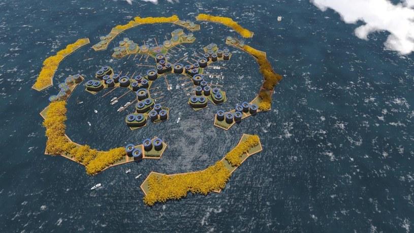 Czy seastading to przyszłość ludzkości? /Credit The Seasteading Institute and Simon Nummy /materiały prasowe