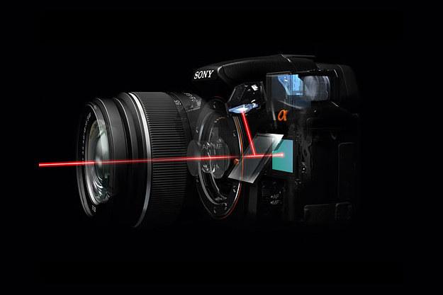 Czy Sony zrezygnuje z technologii SLT w swoich aparatch? /materiały prasowe