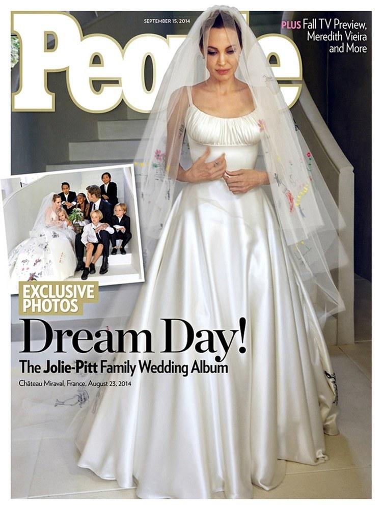 Czy suknia ślubna Angeliny Jolie będzie tak często kopiowana jak suknia Kate Middleton? /East News