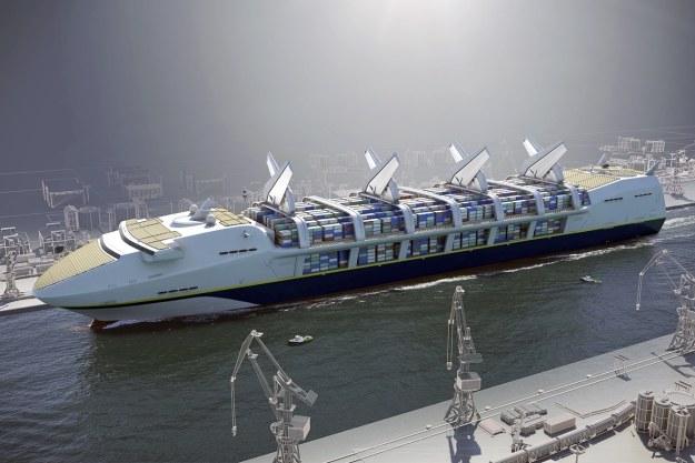 Czy tak będą wyglądać statki transportowe przyszłości.  Fot. Nick Kaloterakis /materiały prasowe