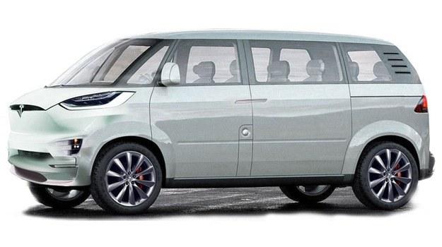 Czy tak będzie wyglądał minibus Tesli? /