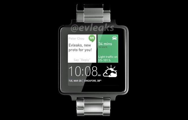 Czy tak będzie wyglądał smartwatch HTC? Fot. @evleaks /materiały prasowe