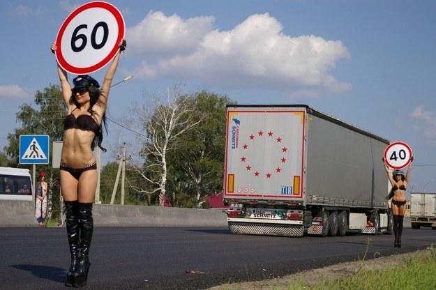 Czy taki widok nie rozpraszał kierowców? / Fot: Przemysław Marzec /RMF