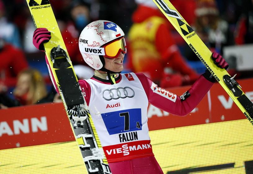 Czy w Lahti Kamil Stoch również będzie miał powody do radości? /fot. Grzegorz Momot /PAP