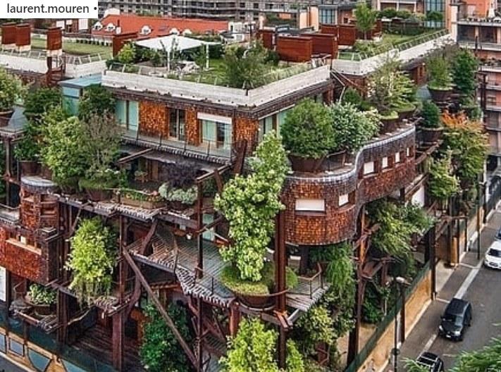 Czy w przyszłości takie budynki staną się standardem? /Laurent Mouren /Instagram
