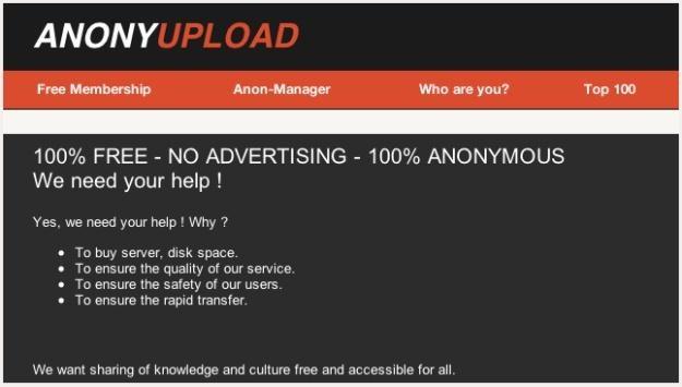Czy za stworzeniem strony Anonyupload faktycznie stoją Anonimowi? /gizmodo.pl