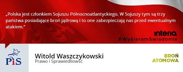 Czy zdaniem pani/pana ugrupowania Polska powinna posiadać broń atomową? /INTERIA.PL