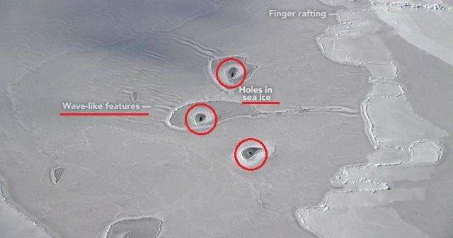 Czym są tajemnicze otwory w lodzie i jak powstały? /YouTube