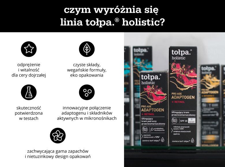 Czym wyróżnia się linia tołpa. holistic? - infografika /materiały promocyjne