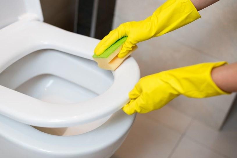 Czyszczenie toalety /©123RF/PICSEL