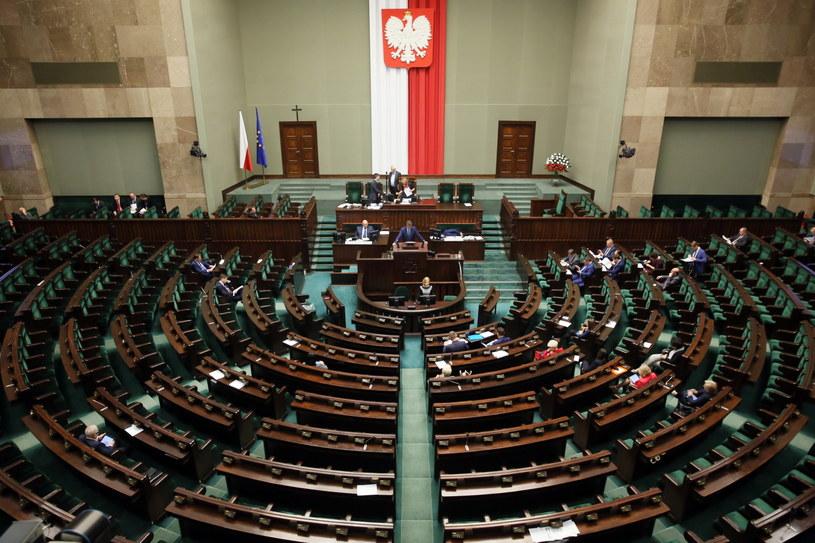 Czytanie projektu ustawy terrorystycznej /Tomasz Gzell /PAP