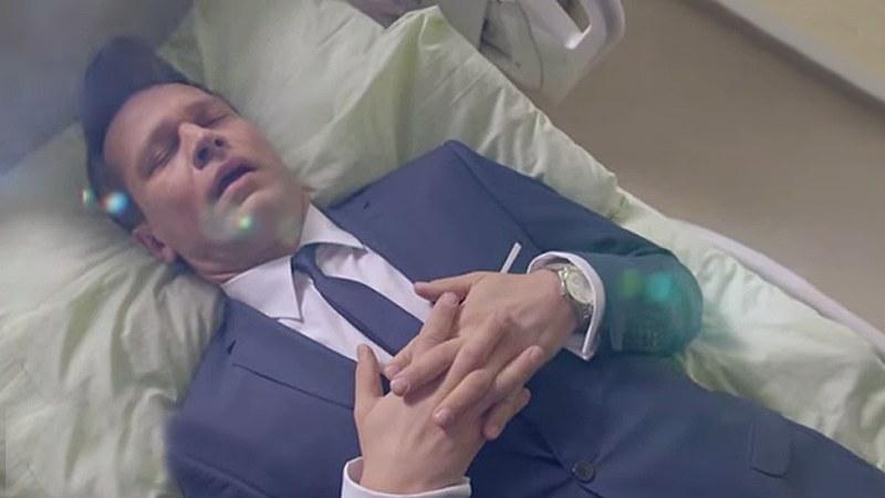 Czyżby Michał Żebrowski przygotowywał się już do roli zombi? /www.nadobre.tvp.pl/