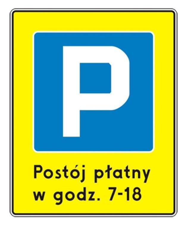 """D-44a """"śródmiejska strefa płatnego parkowania"""" /Ministerstwo Infrastruktury /"""