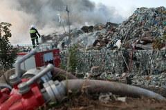Dąbrówka Wielkopolska: pożar sortowni śmieci