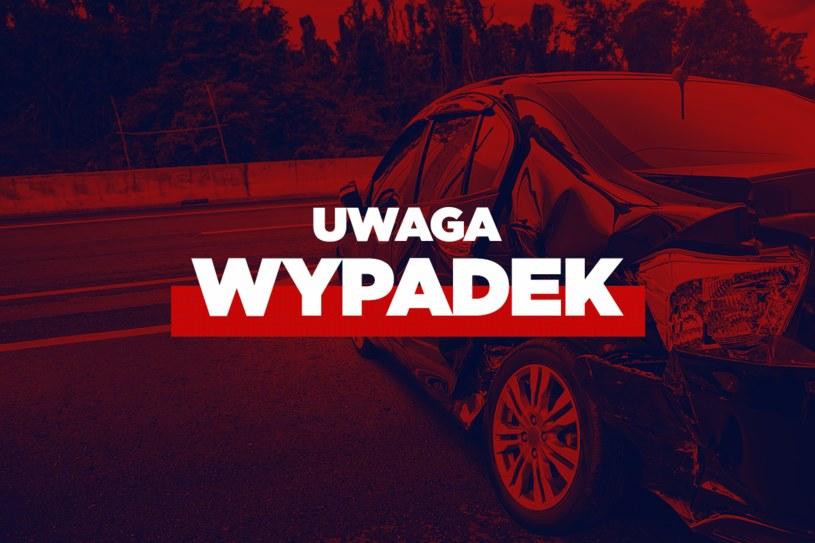 Dachowanie samochodu pod Suchą Beskidzką /INTERIA.PL