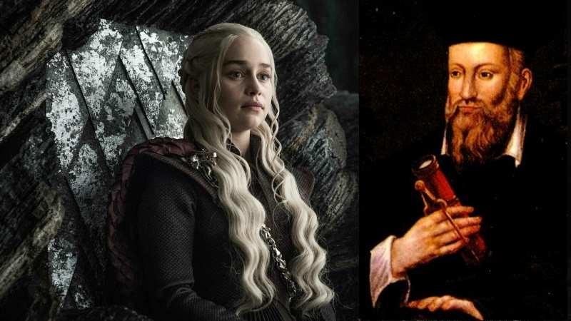 Daenerys Targaryen i Nostradamus, który - kto wie - mógł przewidzieć fenomen tego serialu. Fot. Wikipedia/materiały prasowe /materiały prasowe