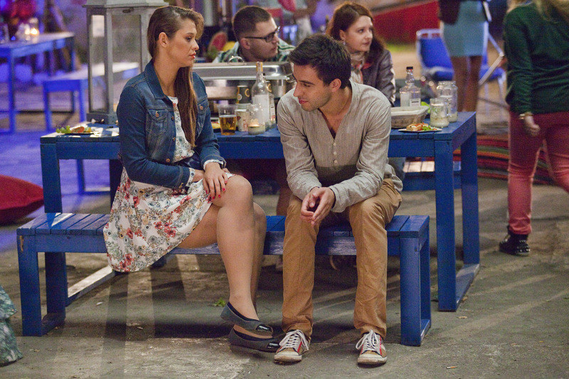 Daga (Anna Szymańczyk) nawet z byłym chłopakiem - Mikserem (Błażej Michalski) jest w dobrych relacjach. /Telus /AKPA