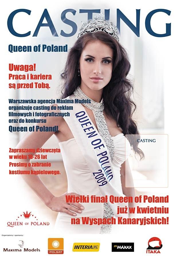 """Dagmara Nowak, """"Queen of Poland 2009"""" zaprasza na castingi! /"""