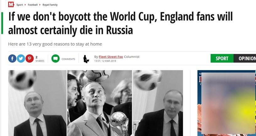 """""""Daily Mirror"""" odradza fanom wyprawę do Rosji. /"""