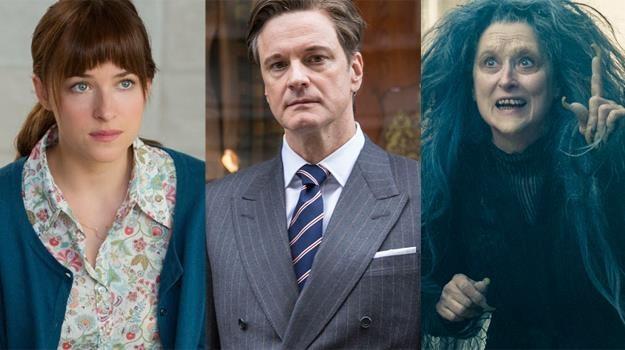 """Dakota Johnson (""""50 twarzy Greya""""), Colin Firth (""""Kingsman"""") i Meryl Streep (""""Tajemnice lasu"""") /materiały prasowe"""