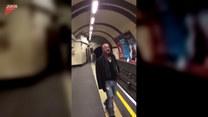 Dał show na stacji metra. Warto zobaczyć!