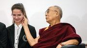 Dalajlama XIV podczas spotkania z uczniami