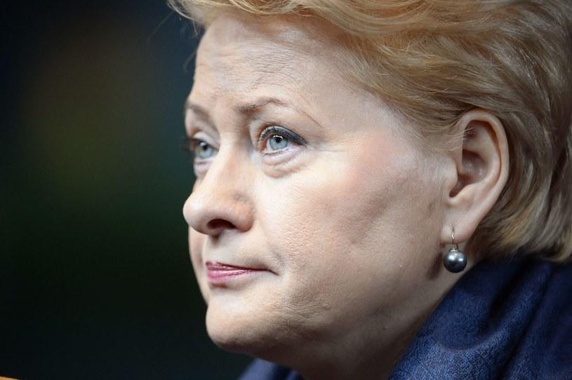 Dalia Grybauskaite prowadzi w wyborach prezydenckich z wynikiem ponad 40 proc. /AFP