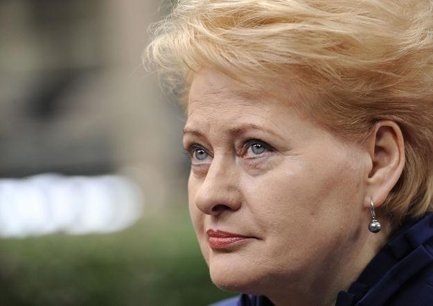 Dalia Grybauskaite w Brukseli, 18 października 2012 /AFP