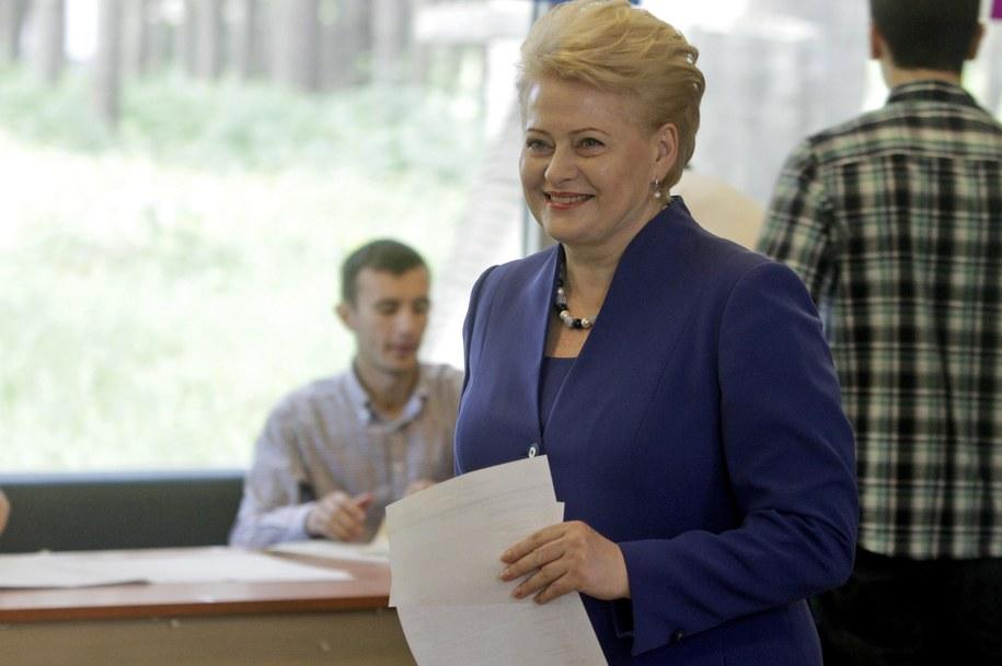 Dalia Grybauskaite /VALDA KALNINA /PAP/EPA