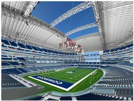 Dallas New Stadium pomieści stutysięczny tłum /