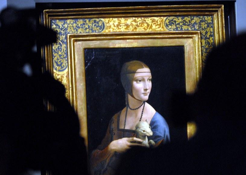 """""""Dama z gronostajem"""" Leonarda da Vinci to najcenniejszy obraz w Polsce /M. Lasyk /Reporter"""