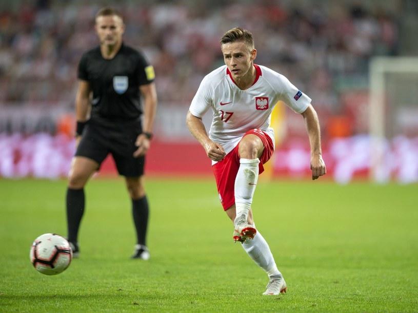 Damian Kądzior w debiucie w reprezentacji Polski /Natalia Dobryszycka /East News
